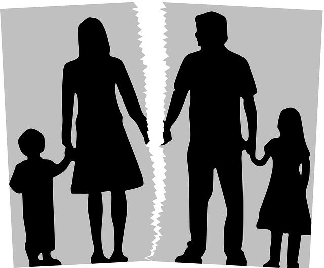 Como gestionar el divorcio o la separación con niños.